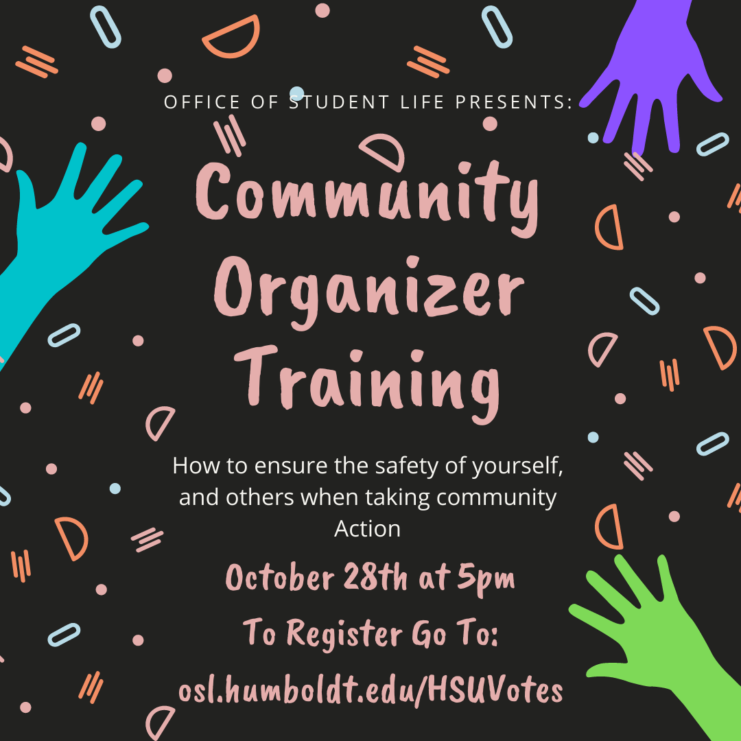 Community Organizer Training: October 28th at 5pm. To register click on this image