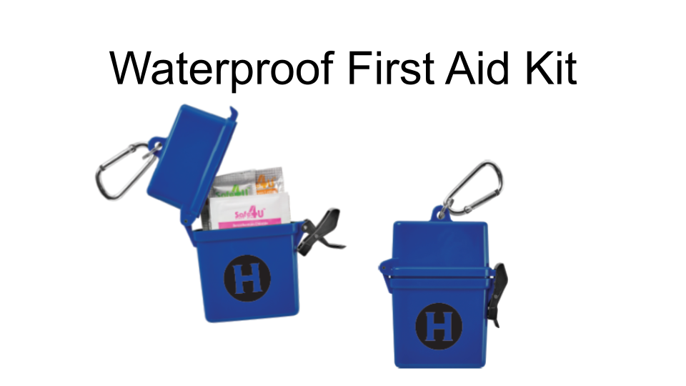 Waterproof First Aid Kit with Humboldt State Logo