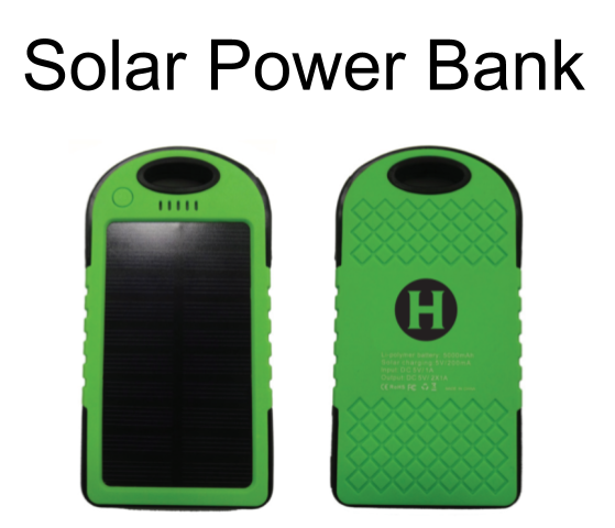 Image of a SOlar Power Bank with the Humboldt State Logo
